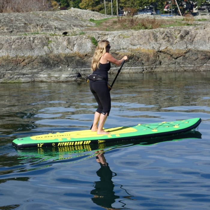 """Adventure Row 13' 4"""" Inflatable SUP, Oar Board, Whitehall Rowing & Sail"""