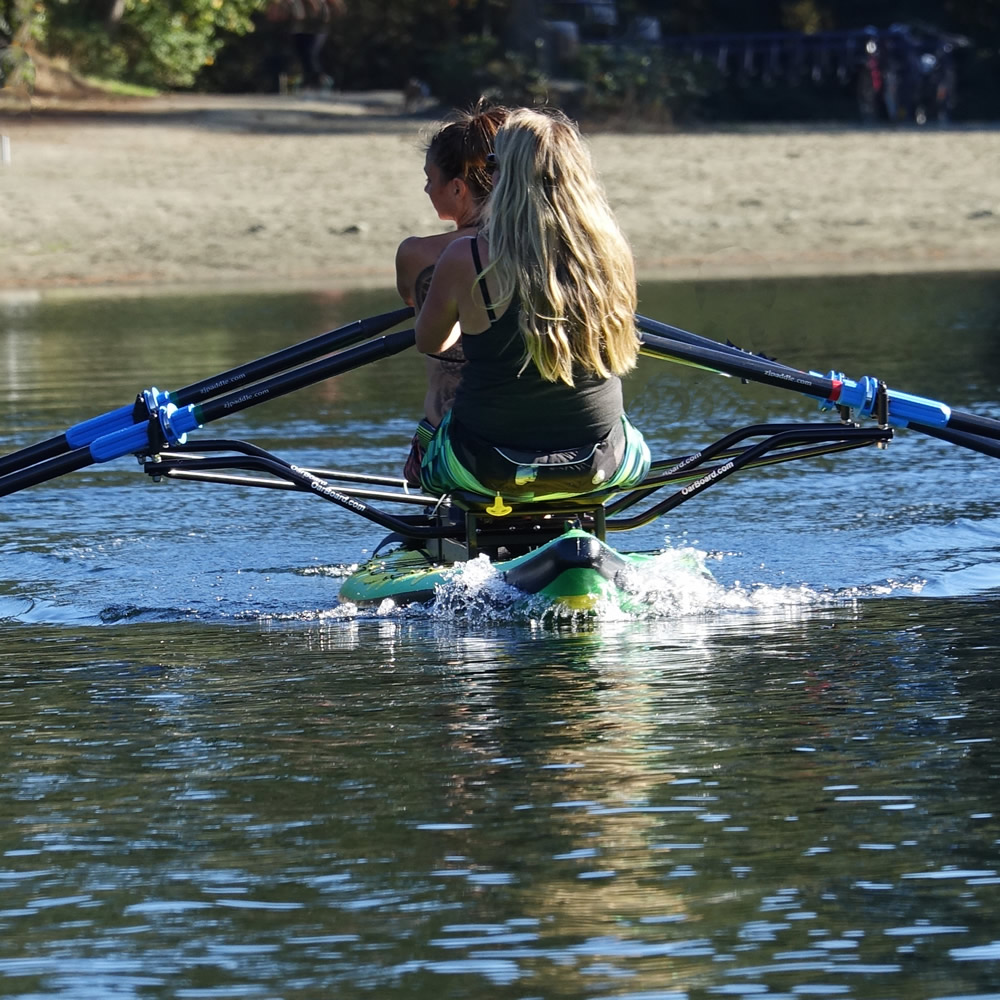 Double Rowing, Friends, Family, Couples, Adventure Row 16' Inflatable SUP, Oar Board, Whitehall Rowing & Sail
