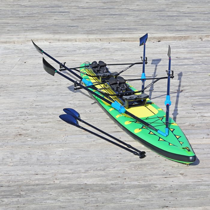 Special Offer, Combo Package Deals, Adventure Row 16' Inflatable SUP, Oar Board, Whitehall Rowing & Sail