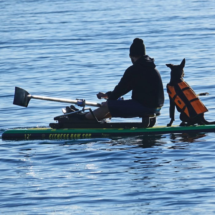 Oar Board® SUP Fit On Top Rower, Stand Up Paddle Board, Fitness Row 12' Inflatable SUP, Oar Board, Whitehall Rowing & Sail