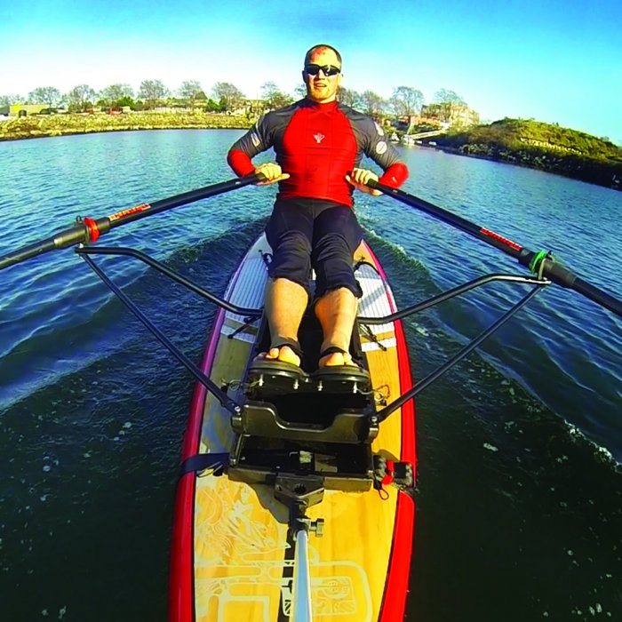 Fitness, Fun and Adventure, Oar Board® SUP Fit On Top Rower, Stand Up Paddle Board, Inflatable SUP, Oar Board, Whitehall Rowing & Sail