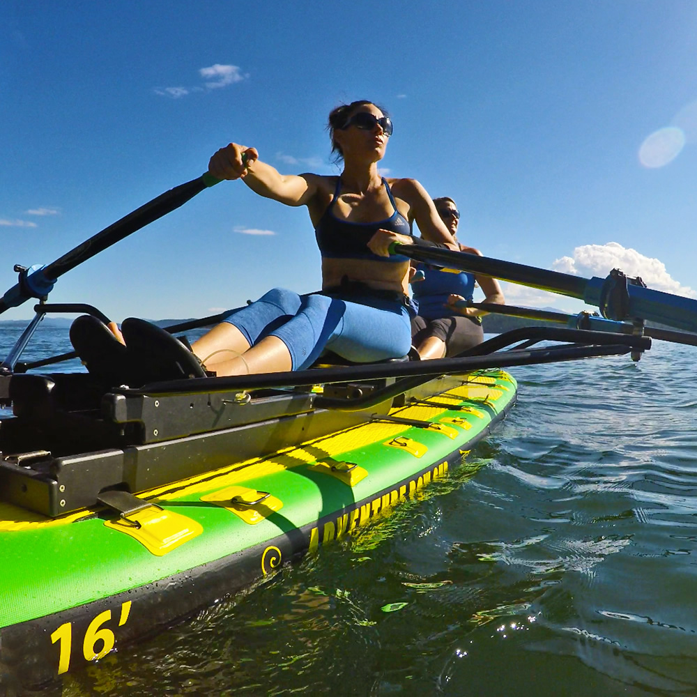 Oar Board® SUP Fit On Top Rower, buy now for fun, fitness, outdoor recreation, and sports, best exercise machine and calorie burner on the market