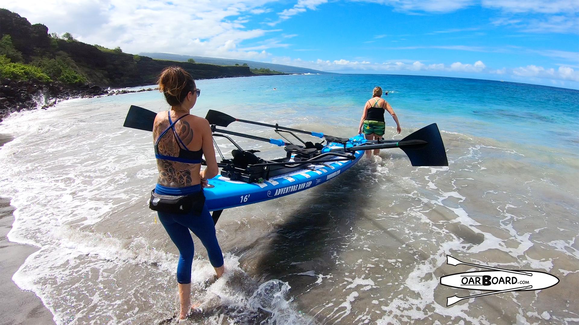 Oar-Board-Launch-Diana-Lesieur-Sarah-Thornber-Ho'okena-Beach