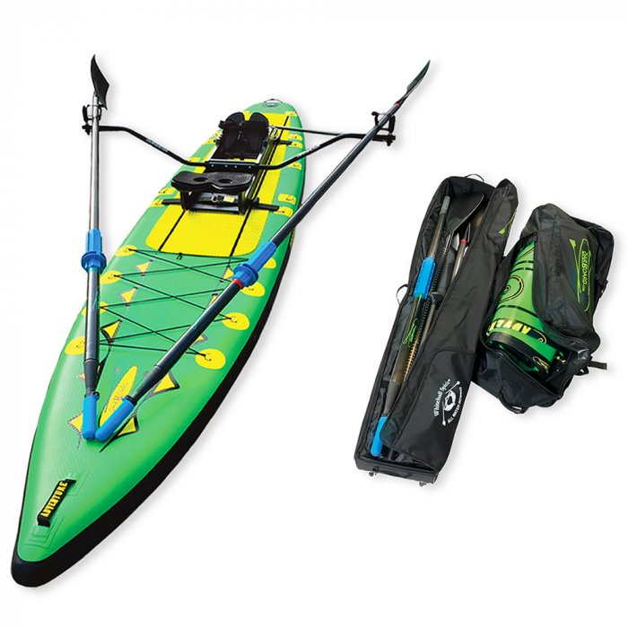 Oar-Board-Adventure-Row-13-4-Green-SUP-Rower-Combo-fitness-fun-Whitehall-Rowing-and-Sail