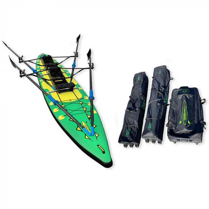 Oar-Board-Adventure-Row-16-Double-Green-SUP-Rower-Combo-fitness-fun-Whitehall-Rowing-and-Sail