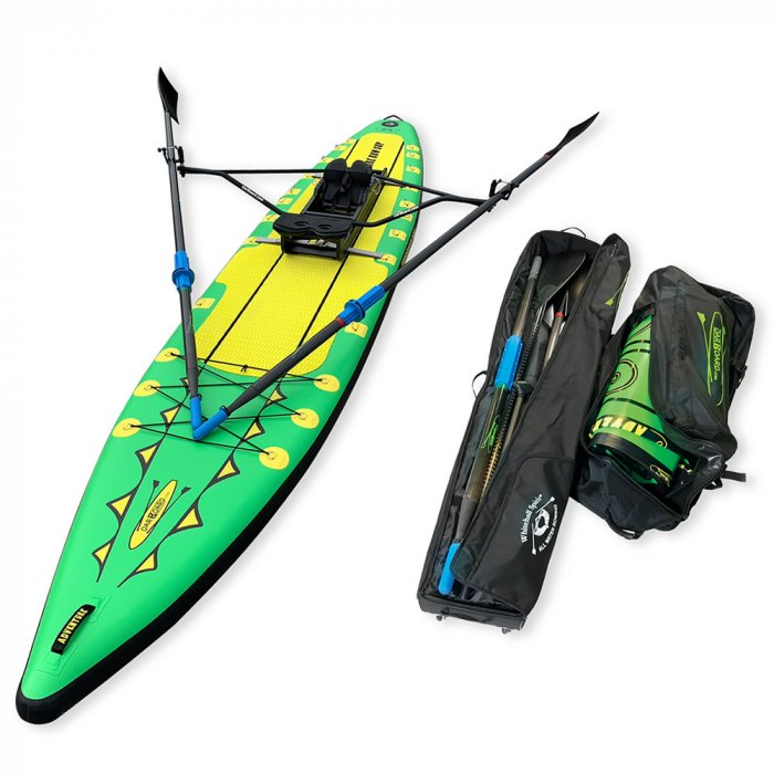 Oar-Board-Adventure-Row-16-Single-Green-SUP-Rower-Combo-fitness-fun-Whitehall-Rowing-and-Sail